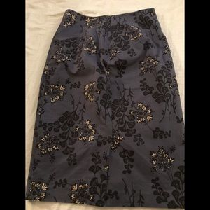 Boden pencil skirt blue, black and cream
